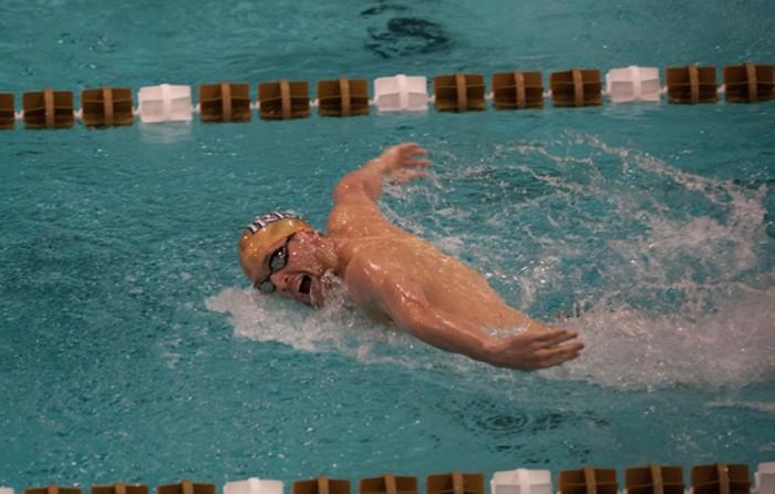 Irish junior John Williamson swims during a meet on Nov. 11, 2013. Williamson will swim in three individual events at the NCAA Championships.