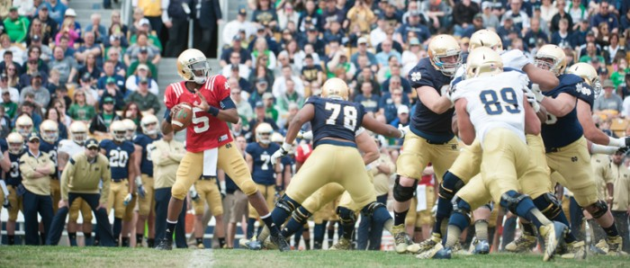 20140412-2013-2014, 20140412, Blue Gold Game, By Michael Yu, Football, Notre Dame Stadium