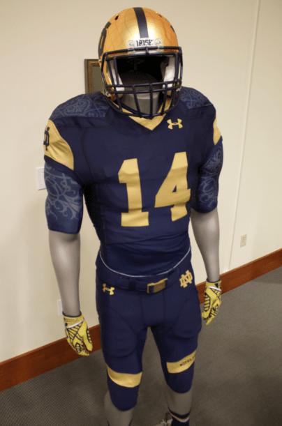 23ec28a8b24 Notre Dame releases Shamrock Series uniform // The Observer