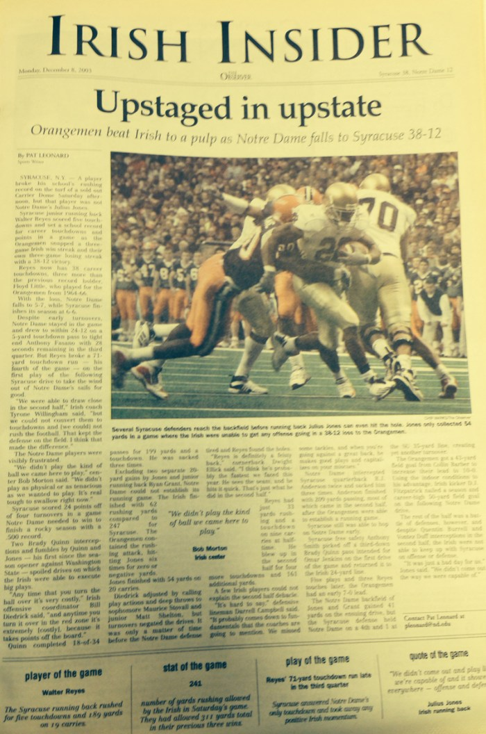 The Observer from Dec. 8, 2003.