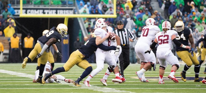 No 8 20141004, 2014-2015, 20141004, Football, Kevin Song, Notre Dame Stadium, Trumbetti, vs Stanford