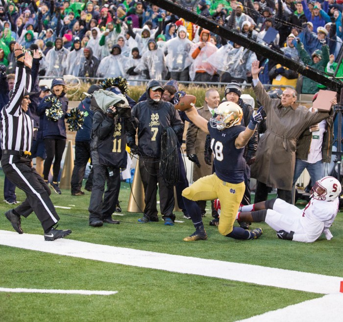 TOP 20141004, 2014-2015, 20141004, Football, Kevin Song, Koyack, Notre Dame Stadium, vs Stanford-2