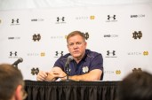 Irish coach Brian Kelly at the post-game press conference. Kevin Song | The Observer.