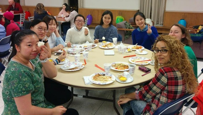 Saint Mary's international students share food and friendship at the Chinese Diversity Dinner, which took place in November.