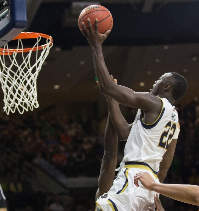 Irish senior guard Jerian Grant rises for a lay-up during Notre Dame's 65-60 loss to Syracuse.