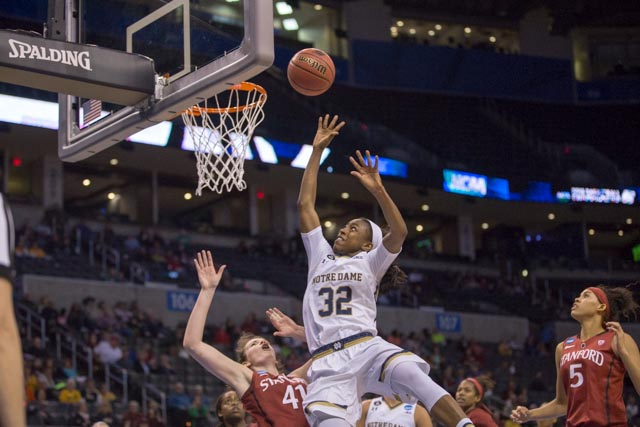 Irish junior guard Jewell Loyd vs. Stanford on March 27