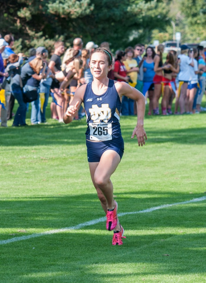 Molly Seidel races during the fall cross country season at the National Catholic Championships on Sept. 19 at Notre Dame Golf Course.