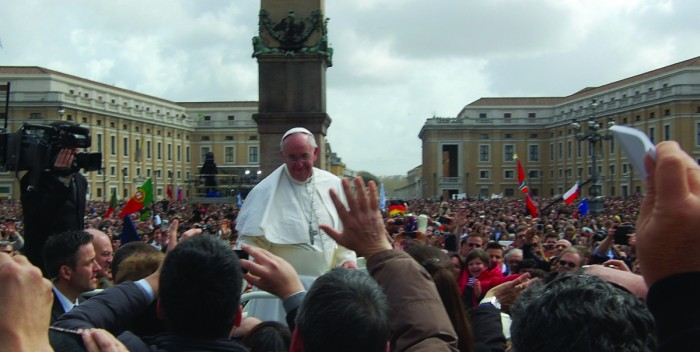 Campus Ministry organized a pilgrimage to Philadelphia last October to see Pope Francis. Students will celebrate Mass with the pope again this summer in Krakow, Poland, for World Youth Day.