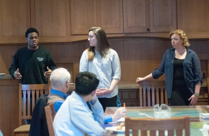 The student worker participation committee (SWPC) hosted a town hall Wednesday night in Geddes Hall to discuss the 'China policy' and the 'Freedom of Association' policy.