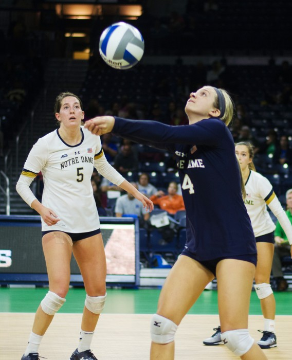WEB - 20161001, 20160930, Purcell Pavilion, Volleyball, Wei Cao, Women's Volleyball