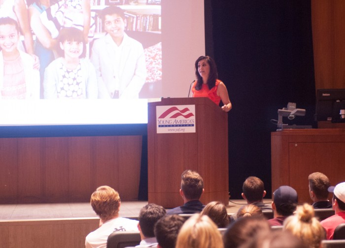 Rachel Campos-Duffy spoke about Hispanics, conservatism and feminism during a lecture Thursday night.