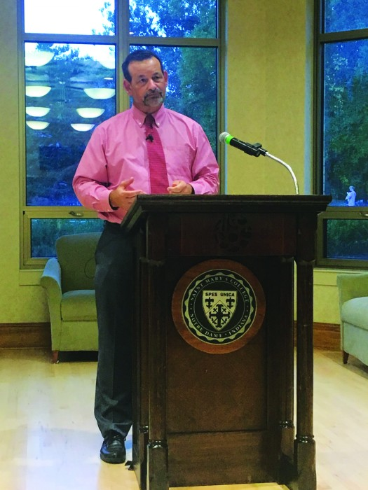 Notre Dame philosophy professor David O'Connor spoke Thursday night about Thomas Aquinas's teachings.