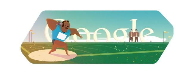 London 2012 Shot Put Olympics Day 8 Google Doodle