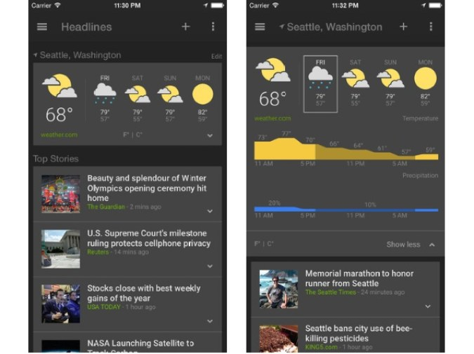 google_news_weather_app_ios Google's First Apple Watch App is a Huge Disappointment