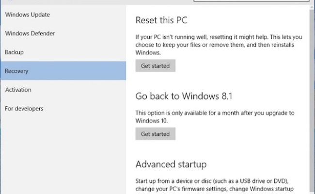 How To Downgrade From Windows 10 To Windows 7 Or Windows 8