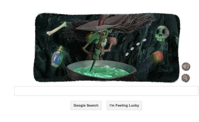 Halloween Witch Interactive Google Doodle To Spook You Out