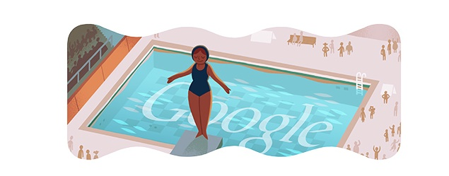 London 2012 Diving Olympics Day 3 Google Doodle