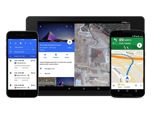 Google Maps For Android Ios Gets Material Design Makeover
