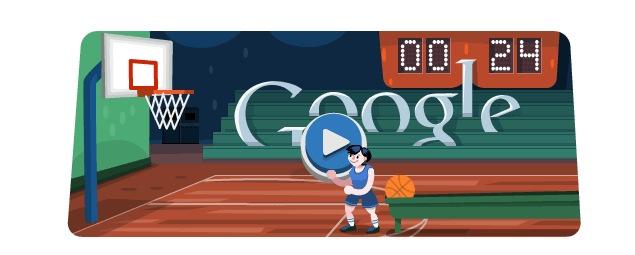 London 2012 Basketball Olympics Day 13 Google Doodle Game