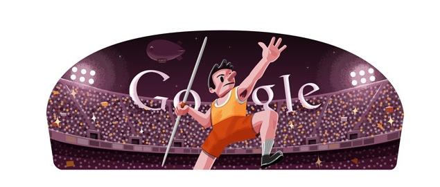 London 2012 Javelin Google Doodle A First Ndtv