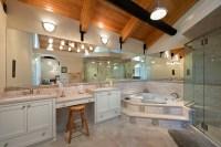 Private Beach House - master bath: single-family ...