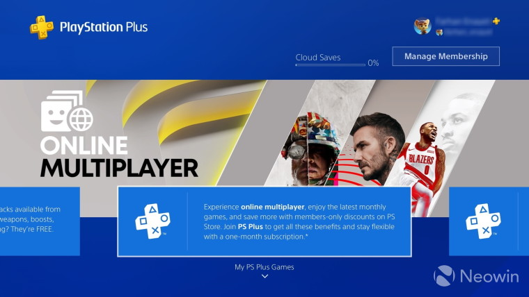 playstation plus on playstation 4