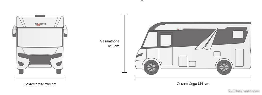 Frankia FLINE 680 SG, Fiat MULTIJET II, EURO 6D 2020