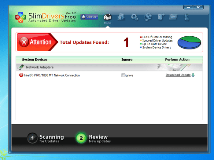 Download SlimDrivers free — NetworkIce.com