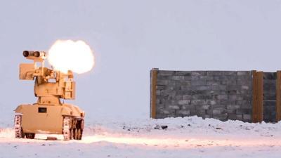 Ein vollautomatisches Kampfsystem des russischen Herstellers Kalashnikow im Einsatz.