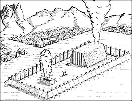 Israelites Build Tabernacle Page Coloring Pages