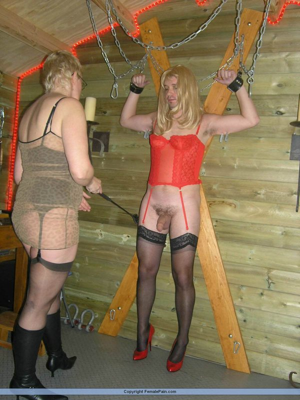 Mystique dominating a sissy