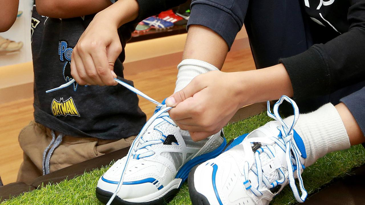 Half of kids can't tie their shoelaces   Daily Telegraph