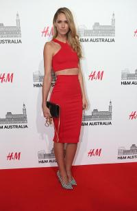 European clothing giant H&M opens to a celebrity-filled ...