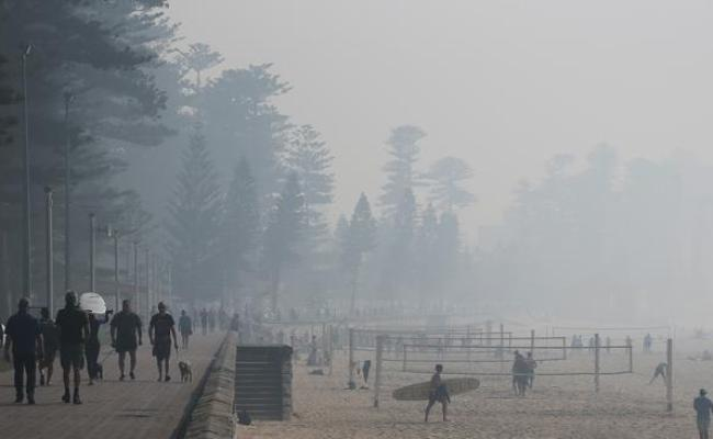 Sydney Smoke Fire Reduction Efforts Cover City In Thick Haze