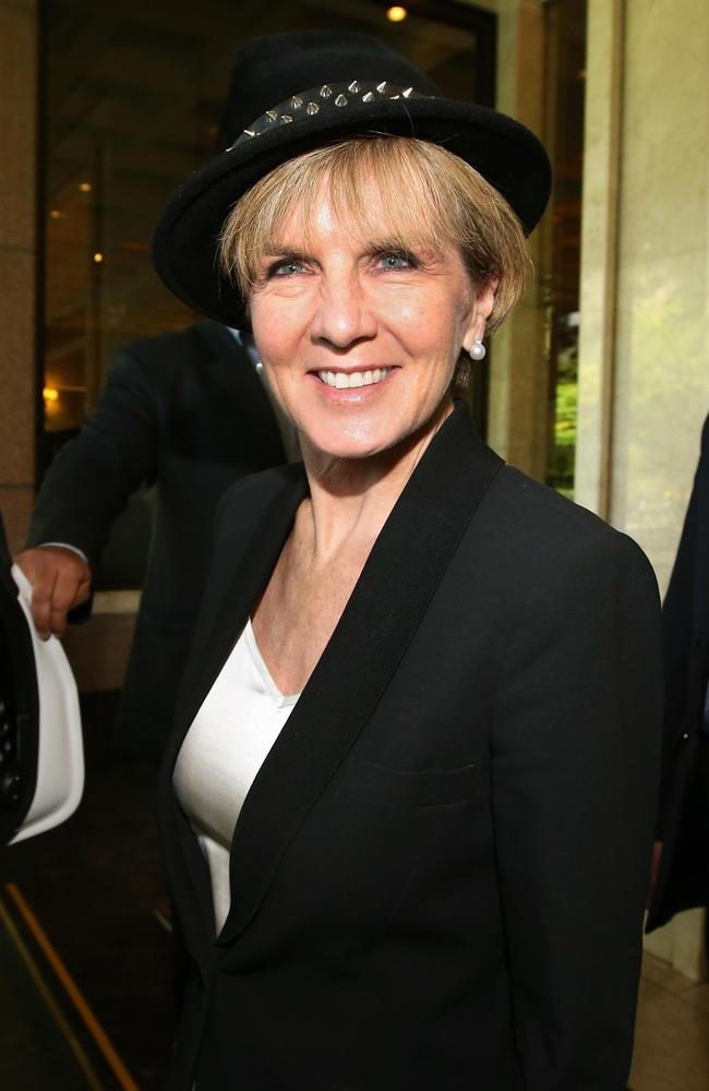Julie Bishop divides opinion wearing hat and hijab in Iran What do you think  Herald Sun
