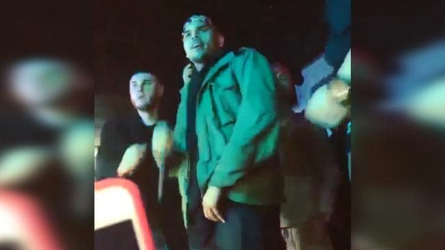 Chris Brown Ducks For Cover During Shooting At San Jose Show