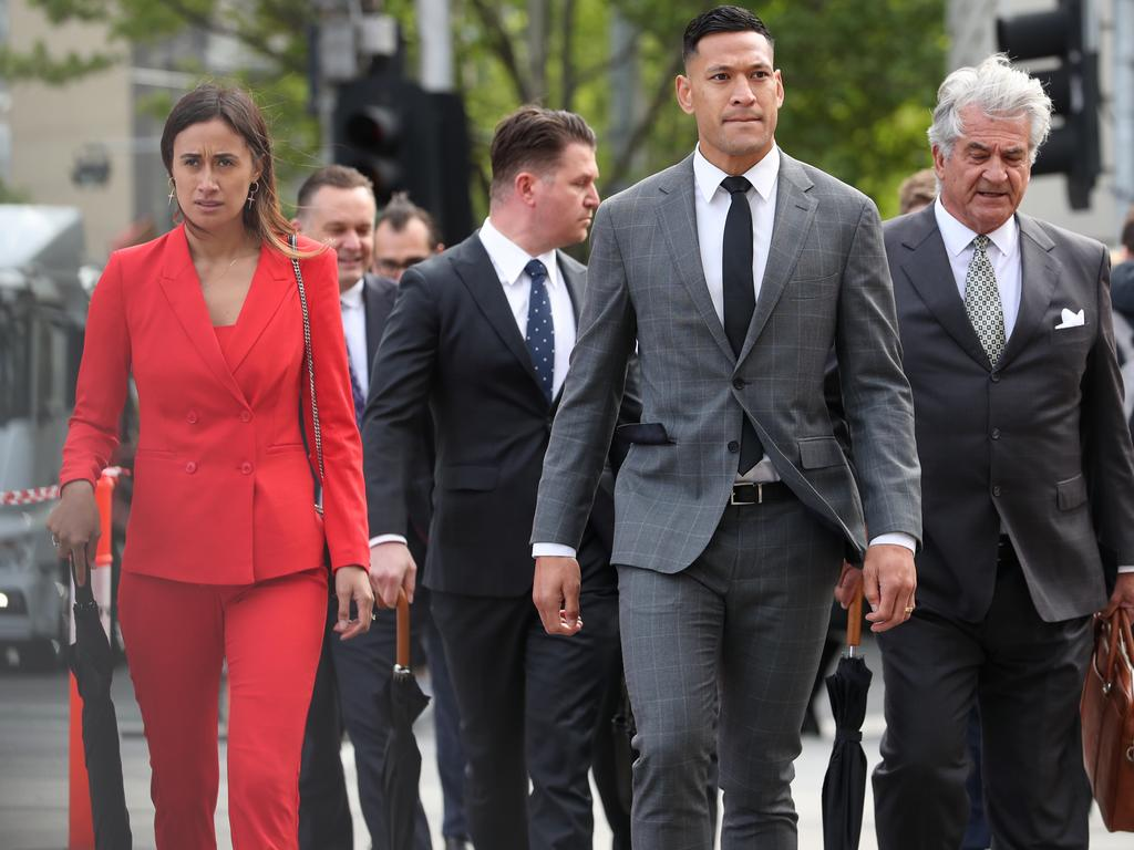 Israel Folau Arrives With Wife Maria For Rugby Australia