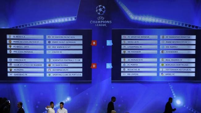Champions League Draw: winners. losers and who drew the 'pool of death'   Daily Telegraph