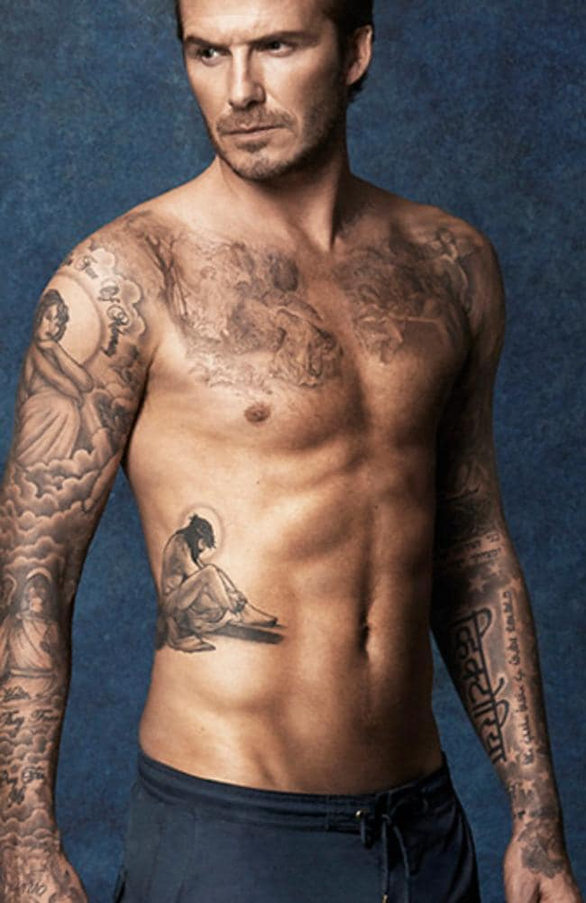 David Beckham Tattoos 2018