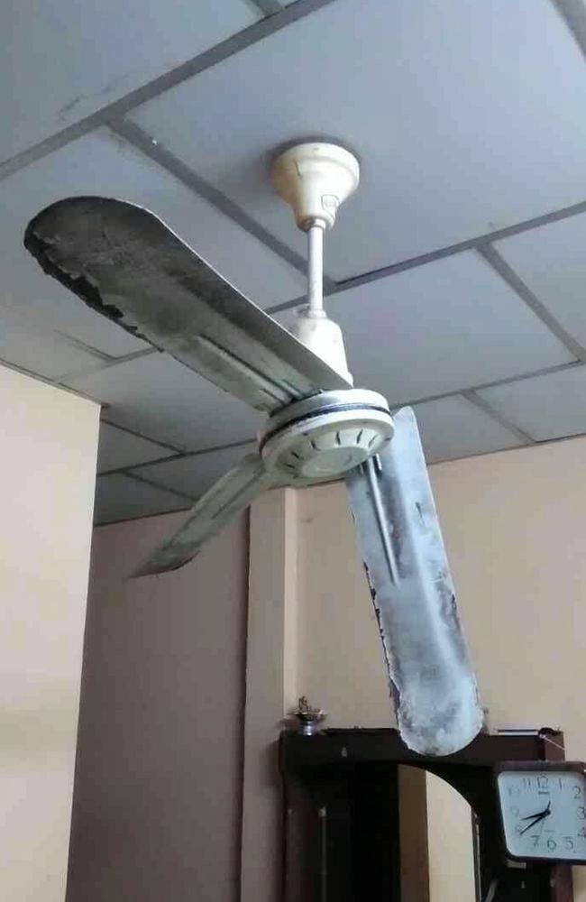 Toddlers head split open by ceiling fan after she was