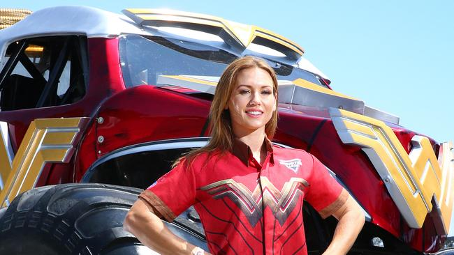 Monster Jam Stunt doubles debut in Wonder Woman truck  The CourierMail