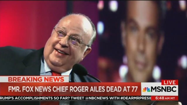 Classless MSNBC Uses Ailes' Death to Spike Ratings Football: 'Rachel Beats Them Every Night'