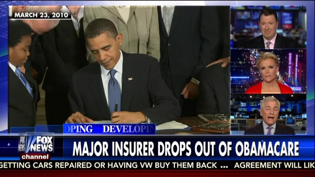 Kelly File Reports on Major ObamaCare Failure ABC and NBC ...