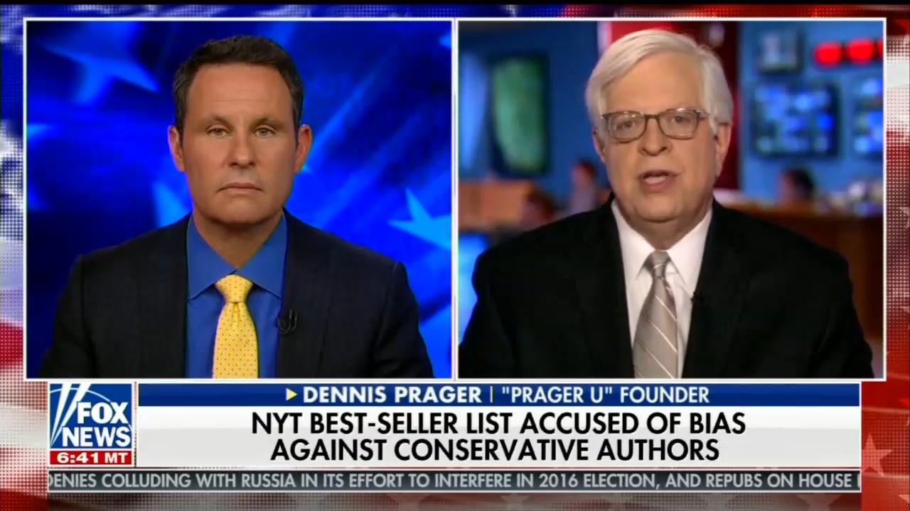 Dennis Prager On Fox New York Times Best Sellers List Isn