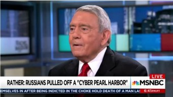 Maddow Indulges 'The Great' Dan Rather: Russians Pulled Off a 'Cyber Pearl Harbor' in 2016