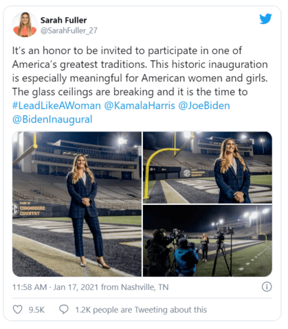 More Woke Mania: Female Football Kicker Invited to Biden's Inauguration