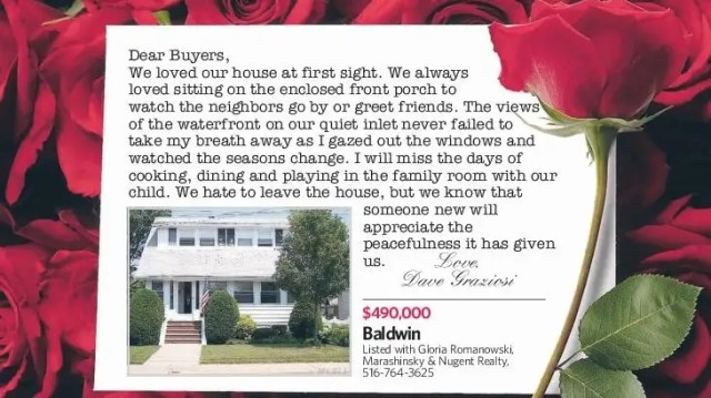 Love letters from home seller to buyer  Newsday