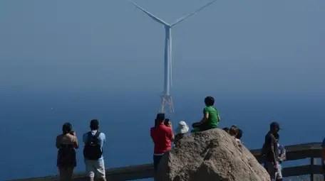 Deepwater Wind offshore wind farm at Block Island,