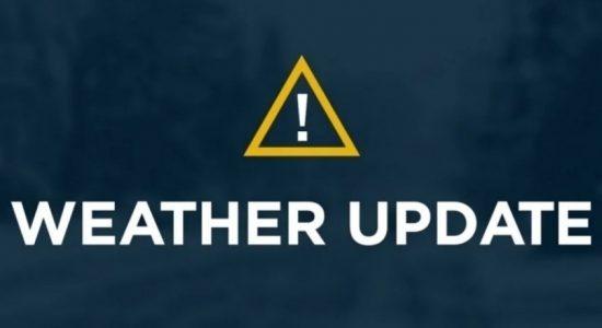 Weather alert : Heavy rainfall across the island