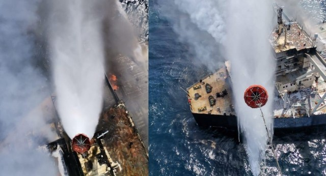 (VIDEO) MT New Diamond now 40 nautical miles away from SL Coast; Navy – FULL STORY